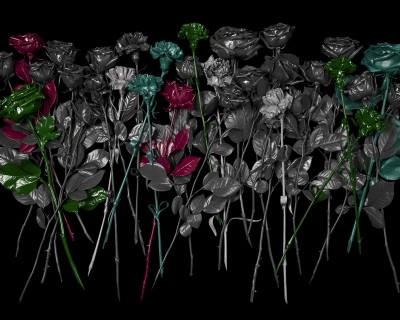 no artificial colours - flowers (black)